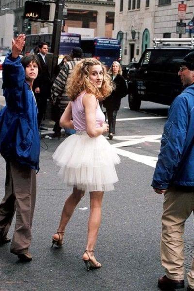 carrie bradhsaw estilo falda de tul inspiración