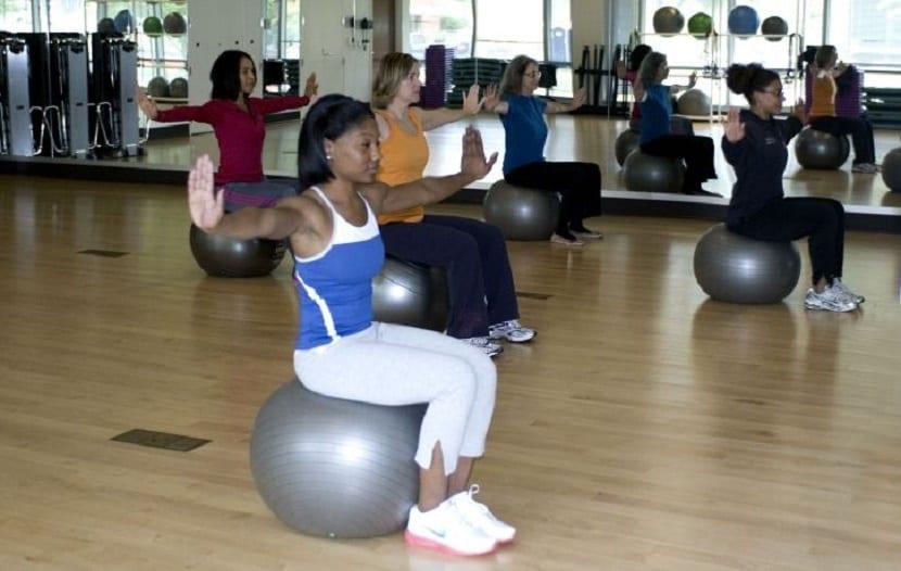 Practicando pilates