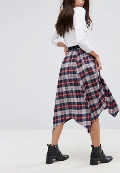 falda midi de asos