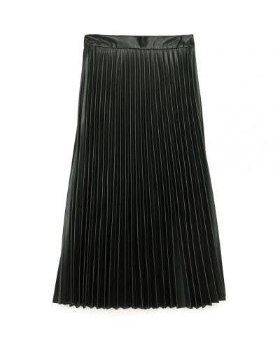 falda midi de stradivarius