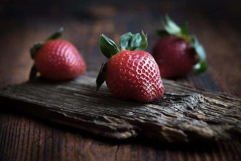 Mascarilla de fresas para el cabello