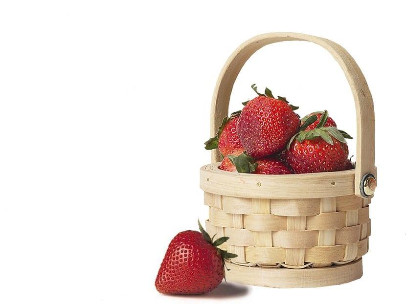 Mascarillas con fresas