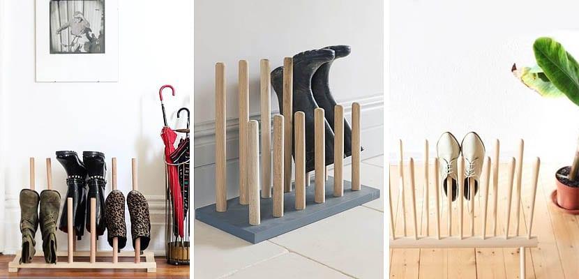 Organizador de zapatos en madera