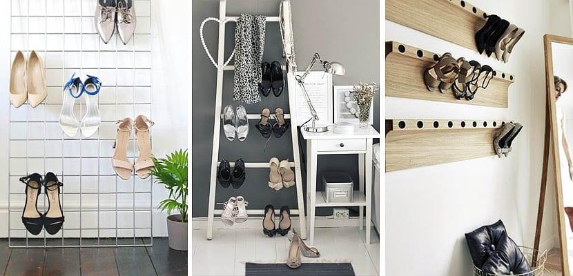 Organizar zapatos por el tacón
