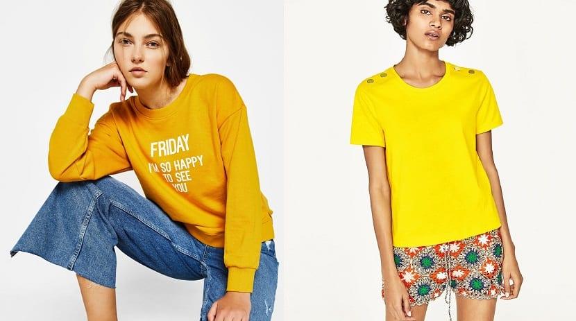 Prendas superiores en color amarillo Minion