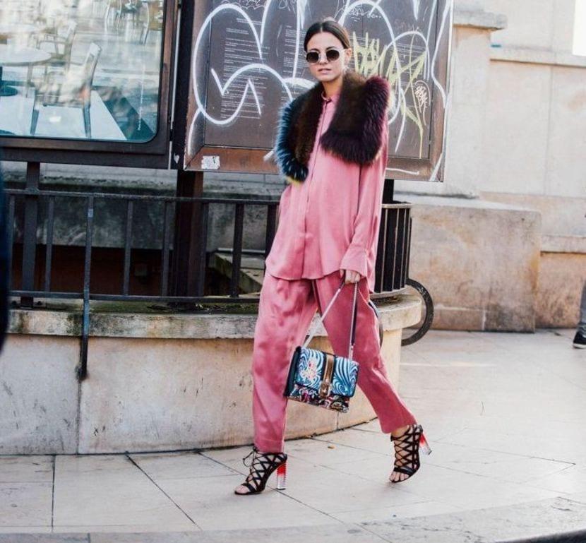 tendencia rosa street style