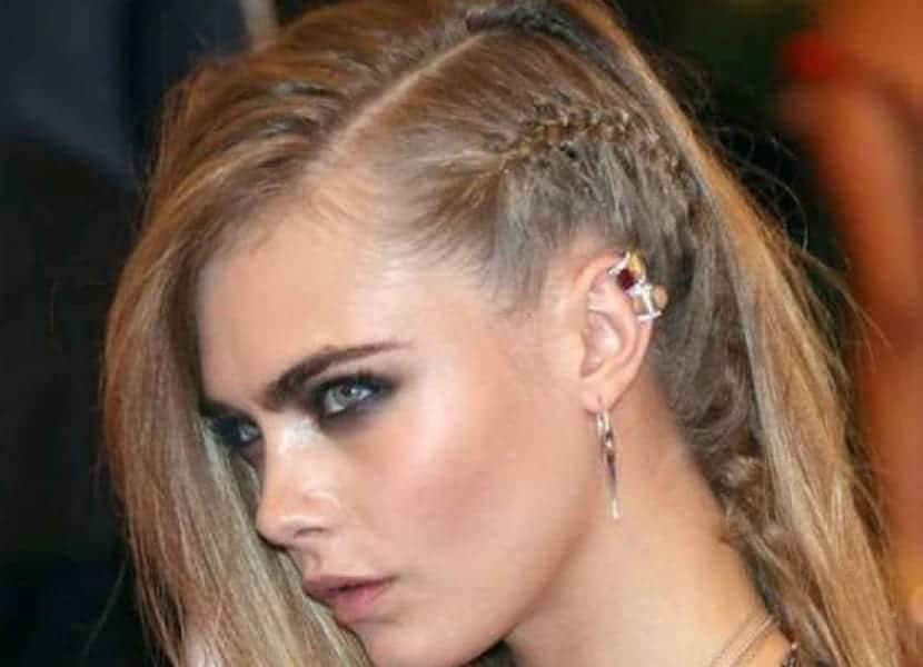 Trenzas laterales en peinados