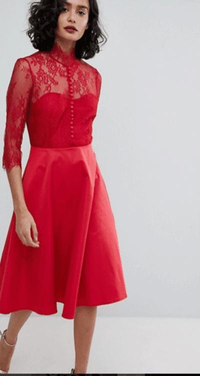 vestido midi Y.A.S inspiración carrie bradshaw estilo
