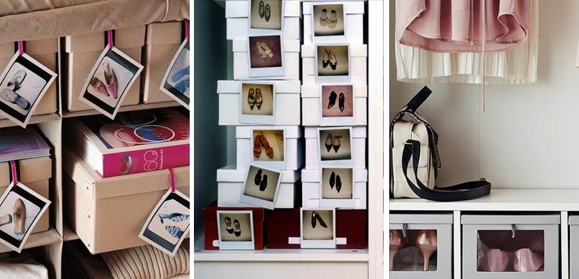 Organizar zapatos en cajas