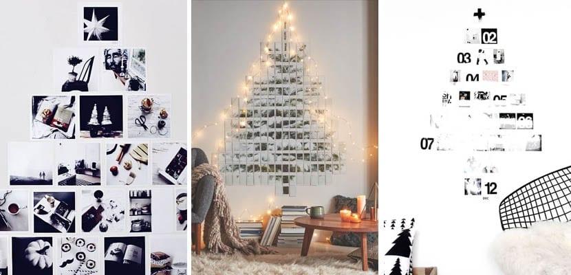 Árboles de Navidad originales hechos con fotos