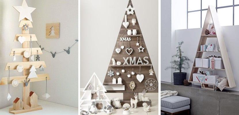 Árboles de Navidad originales de madera