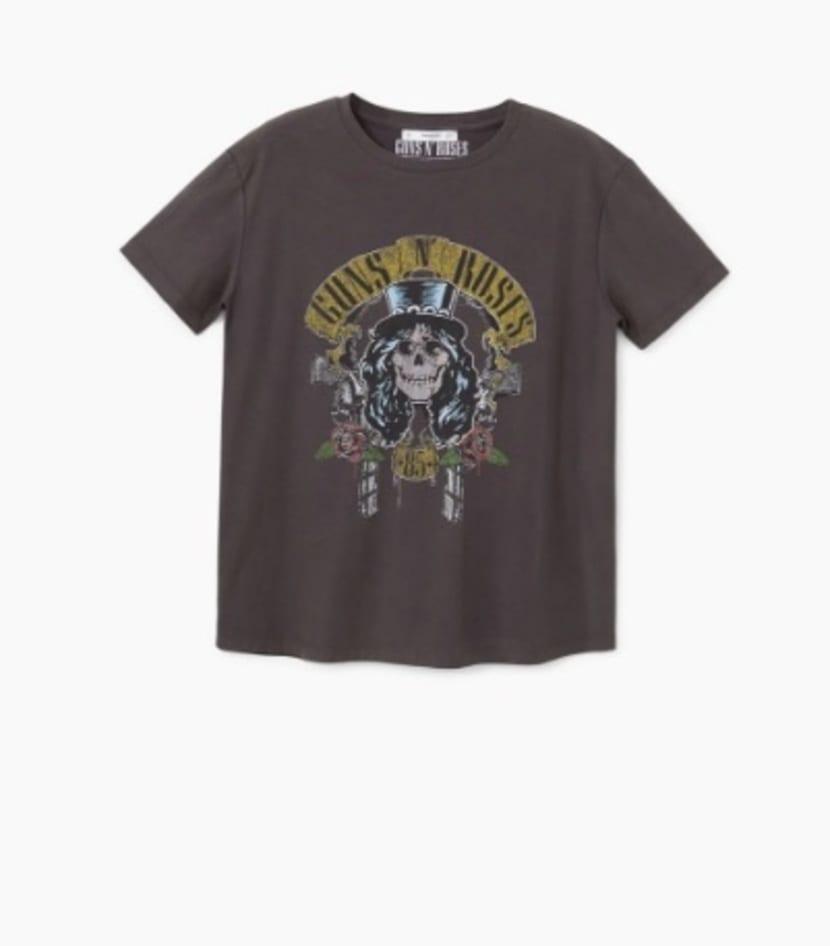 camiseta de Mango Guns N´Roses 15,99€