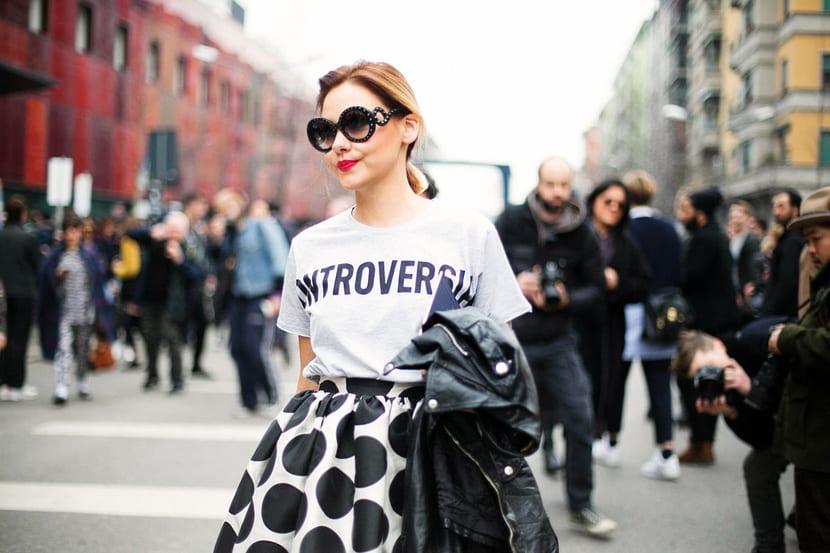 camiseta street style.