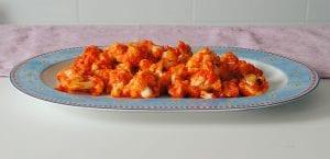 Coliflor con salsa de pimientos del piquilllo