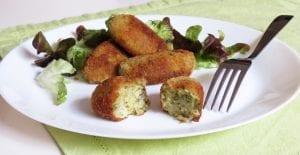 Croquetas de brócoli y queso parmesano