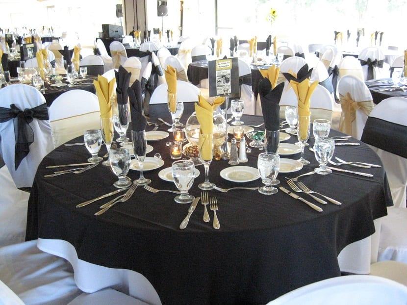 Decoración barata para boda