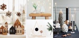 Decoración navideña de repisas y mesas