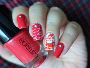 Ideas para decorar las uñas en Navidad