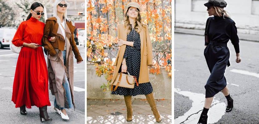 Looks con vestido de invierno