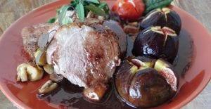 Magret de pato con salsa de higos