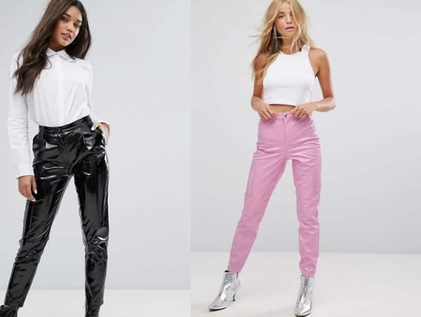 Pantalones vinilo en colores