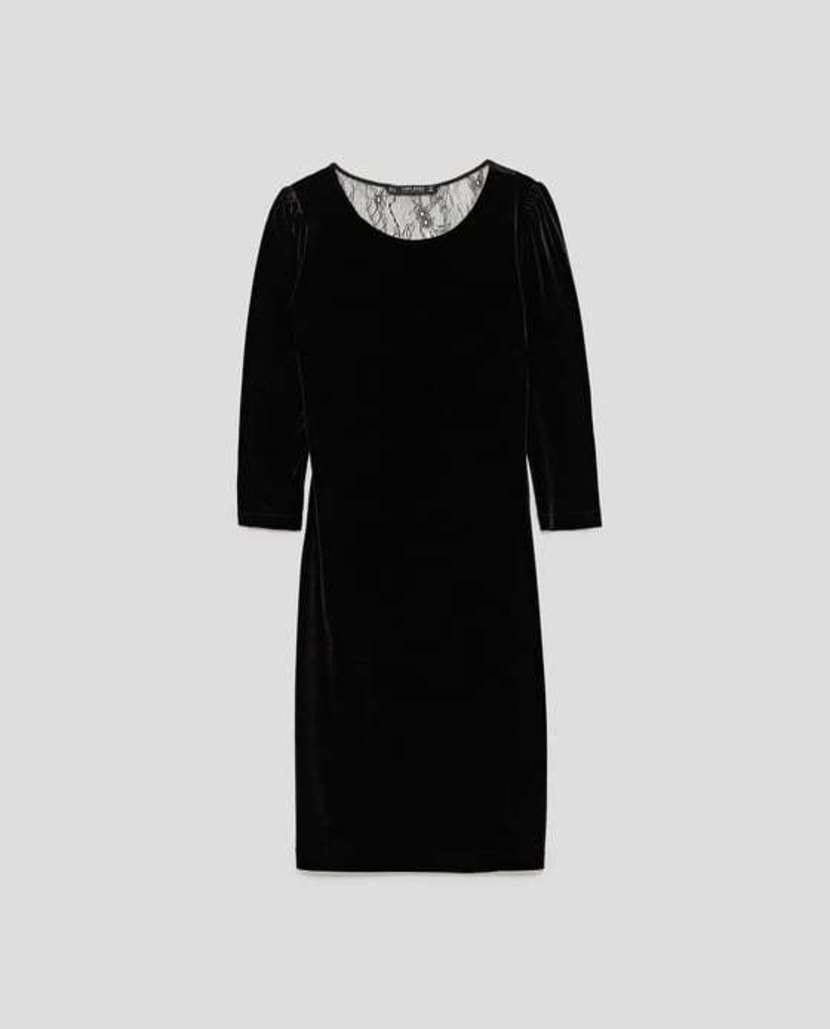 vestido negro básico Zara