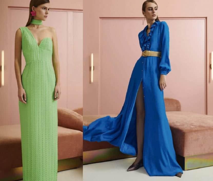 Vestidos largos lisos en colores