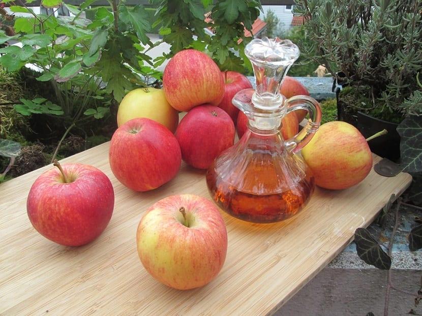 Vinagre de manzana para el brillo