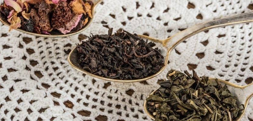 distintas clases de té