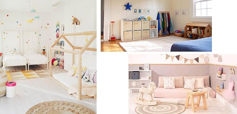 Dormitorio para niños Montessori