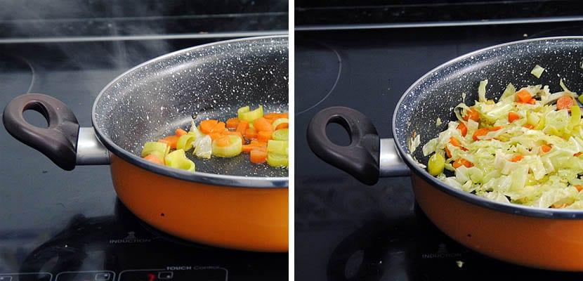 Sopa de garbanzos con verduras y laurel