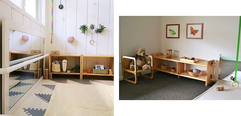 Habitación para bebé Montessori