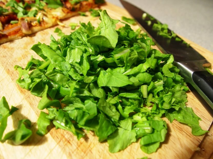 Vegetales verdes en la dieta