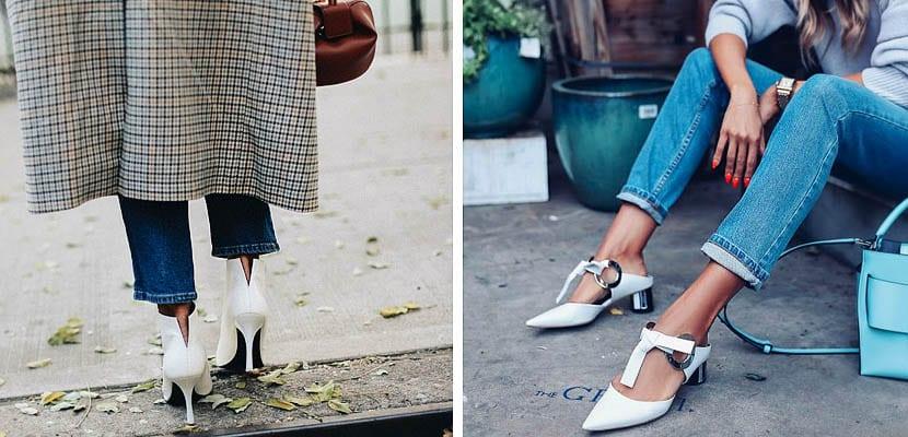 Zapatos y botines blancos