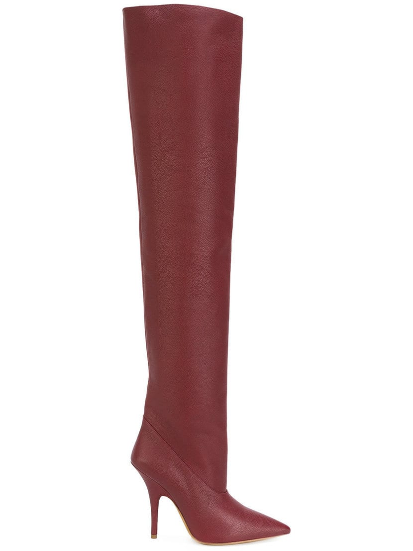 zapatos temporada bota alta roja yeezy 1129€