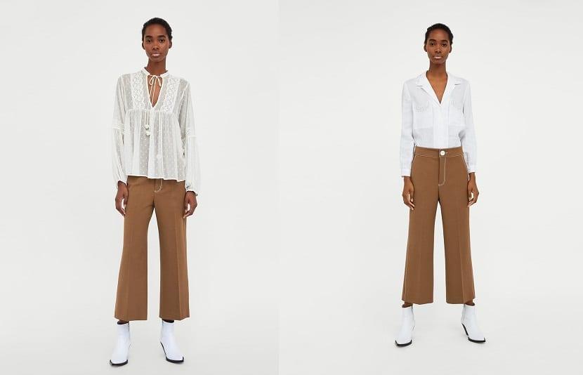 Blusas blancas de Zara