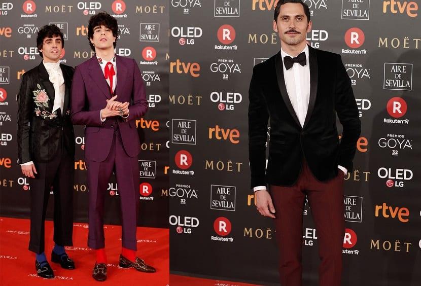 Looks masculinos en los Premios Goya