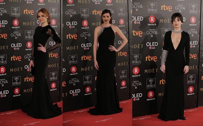 Mejor vestidas Premios Goya