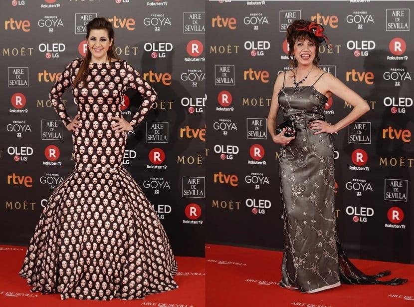 Peor vestidas Premios Goya