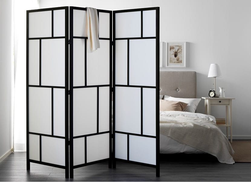 biombos de ikea para separar tus ambientes m s especiales. Black Bedroom Furniture Sets. Home Design Ideas