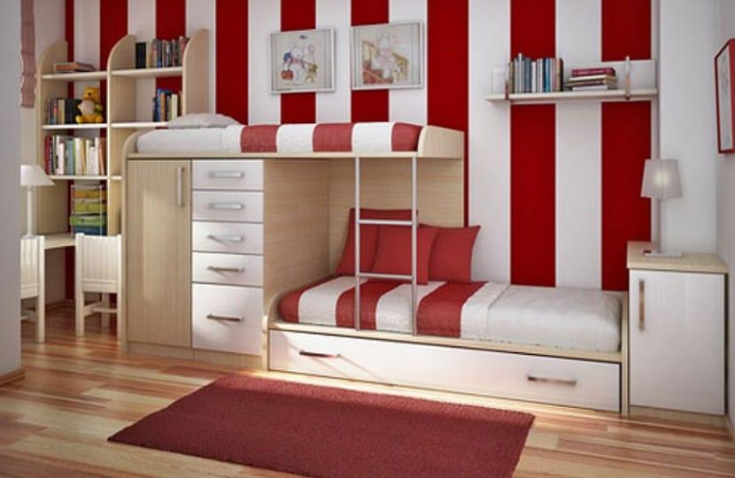 Habitación de camas nido