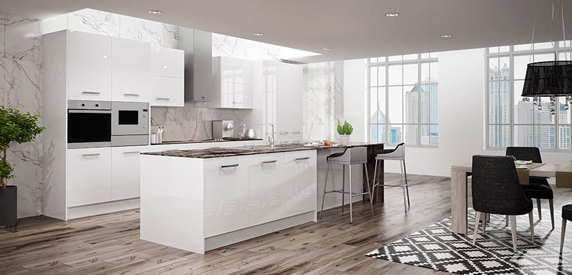 Cocinas blancas para el hogar todo un acierto for Cocinas profesionales para el hogar