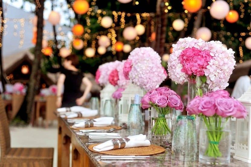Decoración económica para bodas