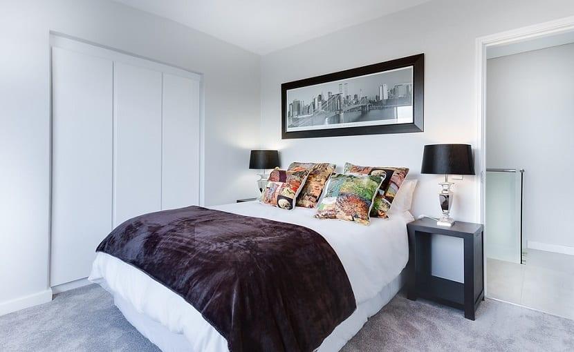 Dormitorios de matrimonio en blanco