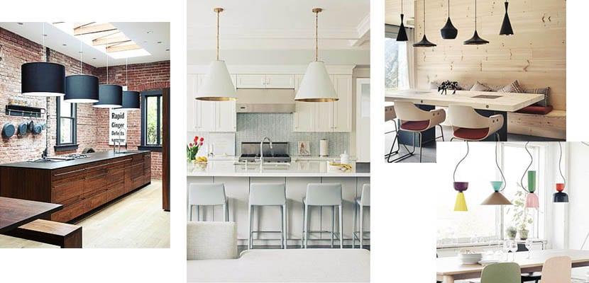 Lmparas de cocina actuales Escoge la tuya