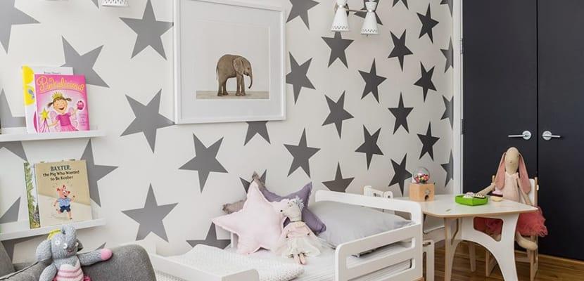 Papel pintado infantil para el cuarto de los peques