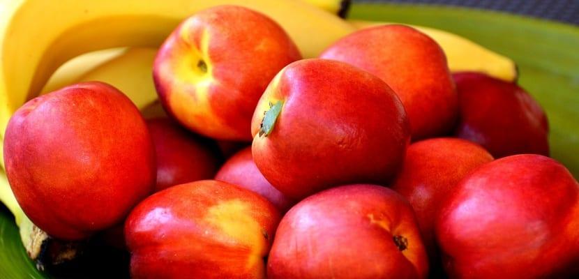 nectarinas en cuenco