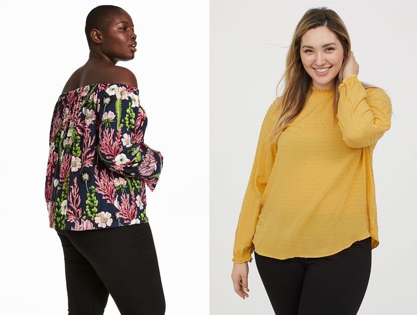 Blusas H&M tallas grandes