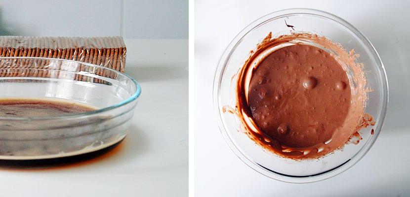 Tarta fácil de café y chocolate