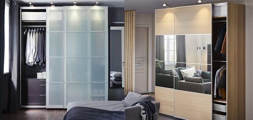 Armarios con puertas de cristal en Ikea